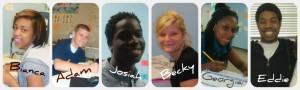 Ribbet collage student success photos 1